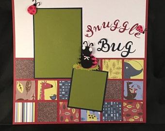 Premade Scrapbook Page 12x12 Snuggle Bug
