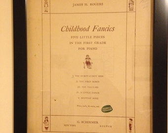 """Sheet Music Cover Page """"Childhood Fancies"""""""