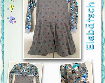 Wonderful dress Svea Gr. 134-140, balloon skirt, winter Kitz, fake Bolero and hood