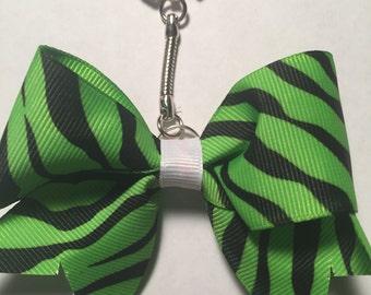 Green Zebra Print