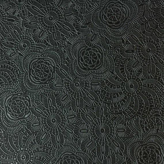 Upholstery Fabric - Camden - Caviar - Designer Pattern Embossed