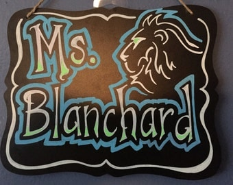 Personalized chalkboard sign