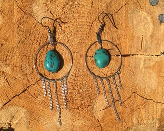 Turquoise chain dangles
