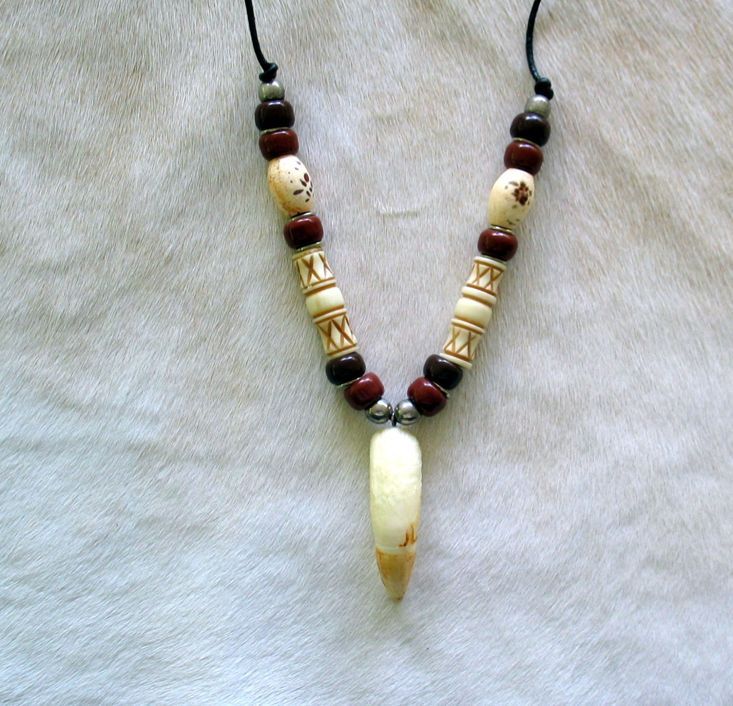 genuine alligator tooth necklace 1