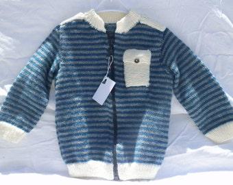 Striped Pocket vest