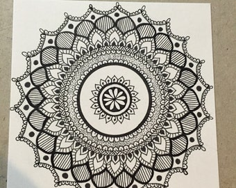 Mandala Coloring Card 1
