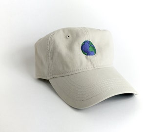 Tan Planet Earth Ball Cap • ctwentytwo