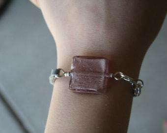 Purple and Grey Cord Bracelet