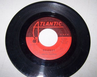 "1960's Hit Single By Aretha Franklin, ""Respect"" on 45 rpm Record"