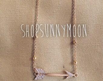 Diamond arrow chained necklace