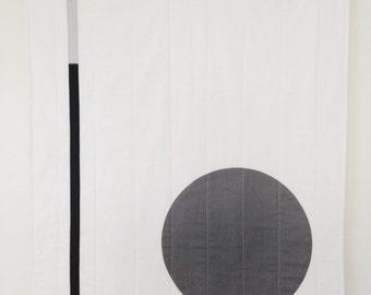 modern graphic quilt,modern art,fiber art, ,textile wall hanging textured wall art contemporary  modern  textile art  scandinavian