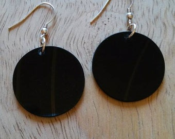 Vinyl Record Earrings..