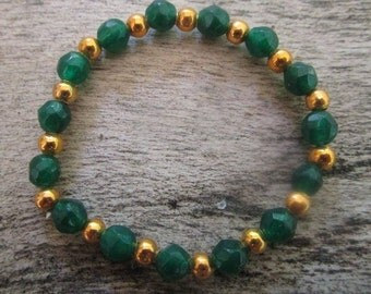 Natural Emerald bracelet, May birthstone