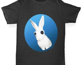 Girl's Googly Eyes Rabbit T-Shirt