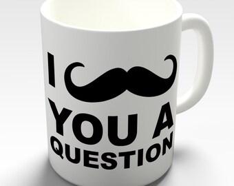 Moustache Ceramic Novelty Gift Mug