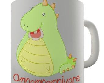 Omnivore Dinosaur Ceramic Novelty Gift Mug