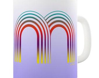 Letter M Alphabet Ceramic Novelty Gift Mug