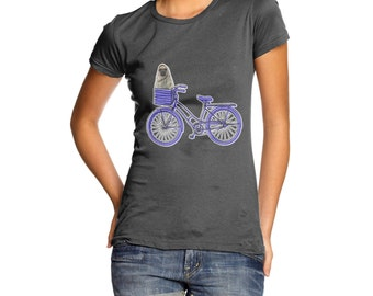 Women's Pug On A Bike T-Shirt