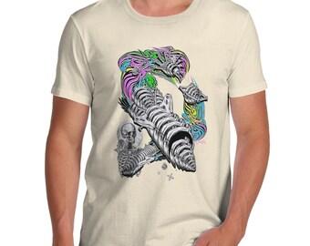 Men's Skellington Rainbow Rocket T-Shirt