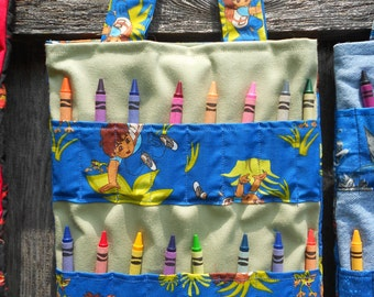 Coloring Book / Crayon Bag ~ Go Diego Go or Angry Birds