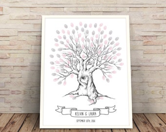Wedding Tree, finger print tree, Printable wedding Tree, wedding tree printable, Wedding Guest Book, Wedding Trees, hand drawn wedding tree