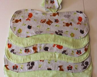 Woodland Animal Burp Cloth Set