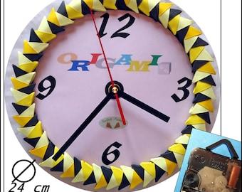 Horloge murale / Wall clock / Wanduhr Origami 3D