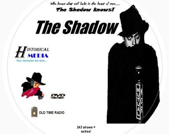 The Shadow - 243 Shows of Old Time Radio In MP3 Format OTR On 1 DVD