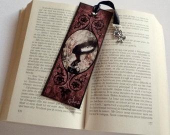 Bride of Frankenstein - illustrated, laminated bookmark, handmade