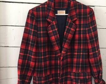 Pendleton vintage plaid blazer