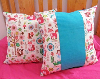 Decorative Pillow Covers, Kids Bedroom Decor, Children's Cushion Cover, Playroom Decor, Nursery Decor, Cottage Decor, Throw Pillow Covers