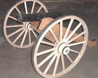 Half scale decorative yard cannon