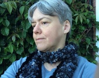 Hairpin crochet scarf