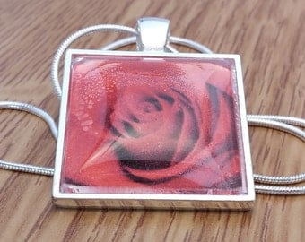 Handmade Red Rose Necklace by KLiKccessorizes