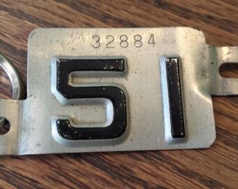 vintage license plate tag