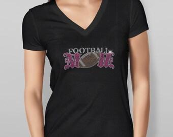 Football Mom Rhinestone Tshirt