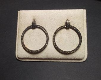 Earrings plated in copper