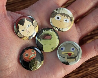Over the Garden Wall - pack of 5 one inch pins