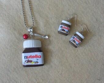 Nutella fimo necklace
