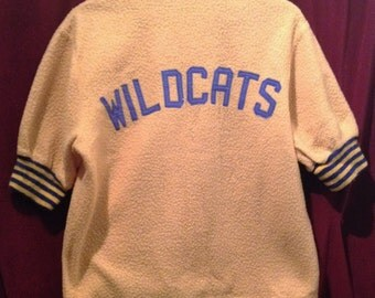 Vintage 1950's Bowling Shirt Jacket / WILDCATS / make - Sports Equitment of Toronto Ltd.