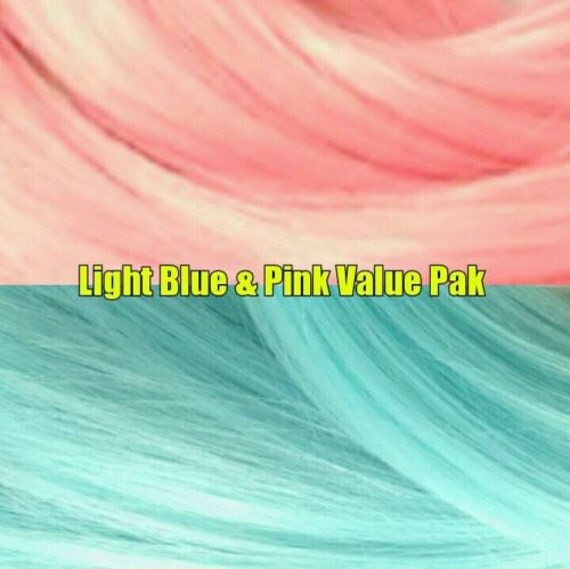 Pastel Pink & Blue 4 oz Nylon Re-rooting Doll Hair Value Pak for Custom Monster High, Ever After, Barbie, Fashion Royalty, My Little Pony