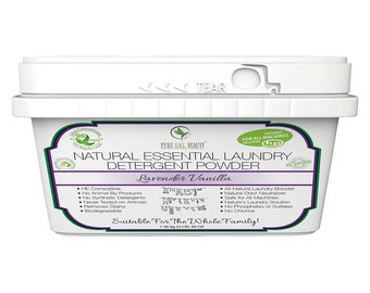 Lavender Vanilla - Natural Essential Laundry Detergent Powder - Natural Laundry Detergent - 96 Loads - Effective Chemical-free Cleaning