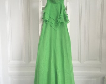 Amazing green vintage evening gown