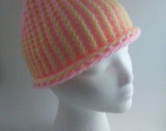 Colorful Pom Beanie Hat