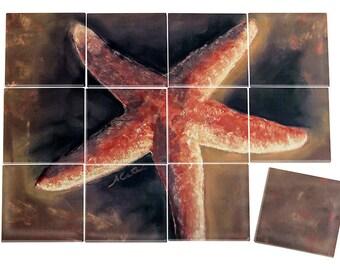 Starfish Ceramic Mural