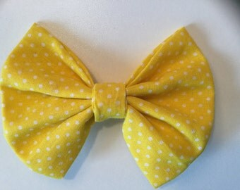 Yellow Spots Hair Bow