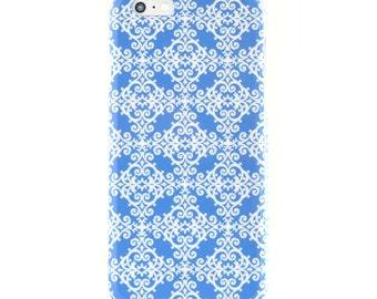Blue iPhone Case Geometric iPhone Case Moroccan Pattern iPhone Case iPhone 6 Case Samsung Galaxy S7 Case Free Shipping Designer iPhone Case
