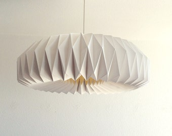ZÜRICH XL really big paper lamp shade | Big white pendant white for a living room | Impressive dining table lighting