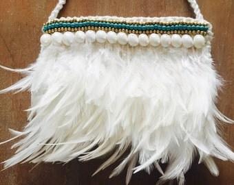 Boho Feather bag