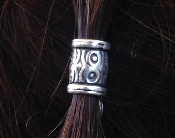 Hair bead kit 'Woodland Whispers' Bead wood design silver Celtic hair bead Dwarf Hobbit Elf cosplay goth viking hair bead PEWTER bead